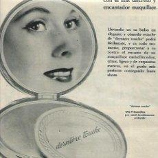 Coleccionismo: AÑO 1958 RECORTE PRENSA PUBLICIDAD COSMETICA GEMEY MAQUILLAJE EN POLVO DERNIERE TOUCHE. Lote 131850314