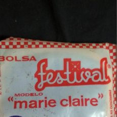 Coleccionismo: ANTIGUA BOLSA DE LA COMPRA FESTIVAL NUEVA,DE RED EN ENVOLTORIO ORIGINAL MODELO MARIE CLAIRE MORADA. Lote 132045334