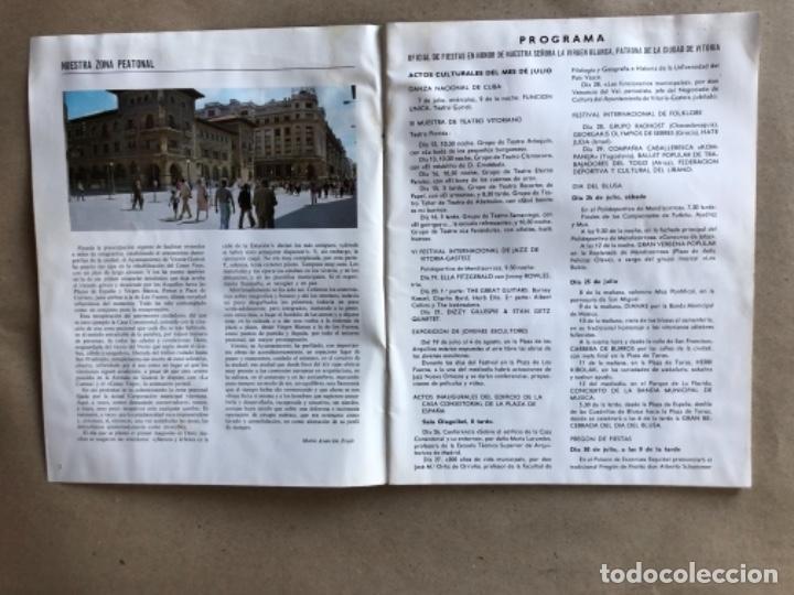 Coleccionismo: PROGRAMA DE FIESTAS DE LA VIRGEN BLANCA, VITORIA GAZTEIZ, DEL AÑO 1982. - Foto 2 - 132139910