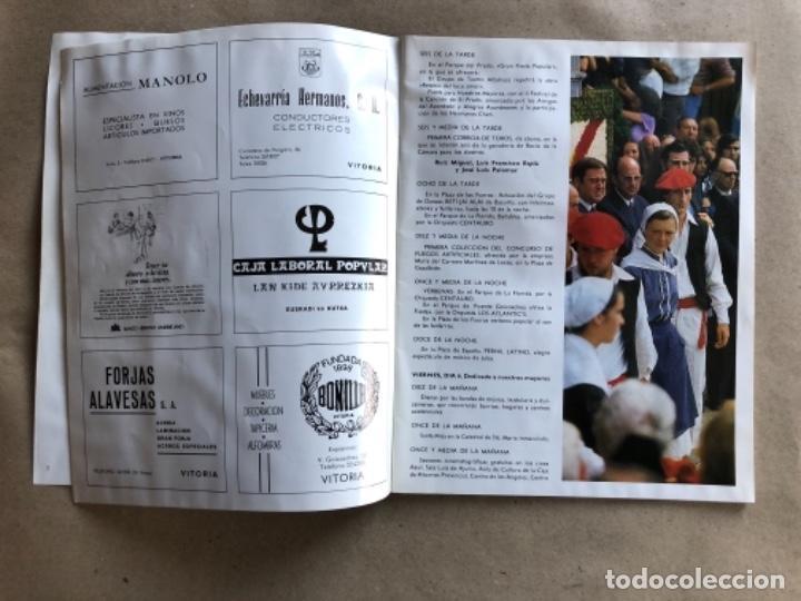 Coleccionismo: PROGRAMA DE FIESTAS DE LA VIRGEN BLANCA, VITORIA GAZTEIZ, DEL AÑO 1982. - Foto 3 - 132139910