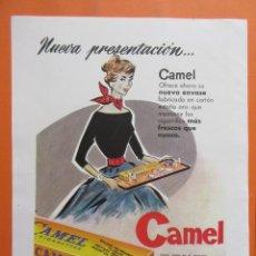 Coleccionismo: PUBLICIDAD 1957 - COLECCIÓN TABACO - CAMEL. Lote 132202798
