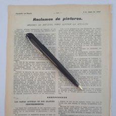 Sammelleidenschaft Papier - Reclamos de pintores. Y otros articulos. 1912 - 132273053