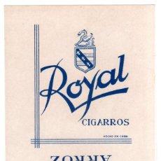 Coleccionismo: PAQUETE DE TABACO. ROYAL. CUBA.. Lote 132369346