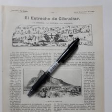Collectionnisme: EL ESTRECHO DE GIBRALTAR. LA LEYENDA.- LA HISTORIA.- LA GEOLOGÍA. 1912. Lote 132696775