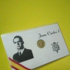 Coleccionismo: TARGETA MAS MONEDA DE REY JUAN CARLOS I. Lote 132769179