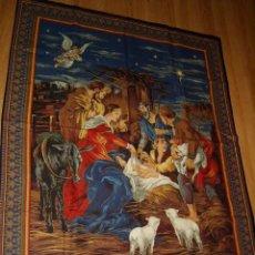 Coleccionismo: PRECIOSA PANCARTA RELIGIOSA GRANDE DE TELA,PORTAL DE BELEN O NACIMIENTO,MADE IN USA AÑO 2004.NUEVO.. Lote 132840526