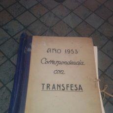 Coleccionismo: LOTE DE 100 LÁMINAS - CORRESPONDENCIA CON TRANSFESA. Lote 132882074