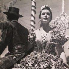 Coleccionismo: SEVILLA EN LA FERIA DE ABRIL LAMINA HUECOGRABADO AÑOS 40 15,5 X 22 CMTS . Lote 132951830