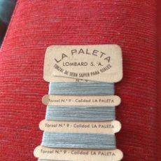 Coleccionismo: LA PALETA - TORZAL DE SEDA SUPER PARA OJALES N°9. Lote 133096117