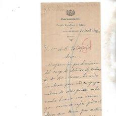 Coleccionismo: COMPAÑIA ARRENDATARIA DE TABACOS. ALCALA DE HENARES. 1902. SOLICITUD DE VINOS A BODEGAS. Lote 133210294