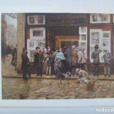 Coleccionismo: LAMINA DE PINTURA DE JOAN FERRER MIRÓ, REGALO LABORATORIOS HOSBON .. 16 X 23 CM. Lote 245751980