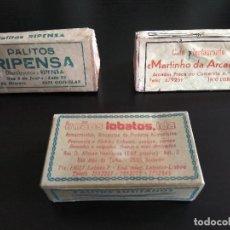 Coleccionismo: LOTE 3 CAJAS DE PALILLOS ANTIGUOS DE PORTUGAL. Lote 133442610