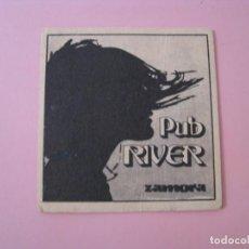 Coleccionismo: POSAVASOS PUB RIVER. ZAMORA.. Lote 133469794