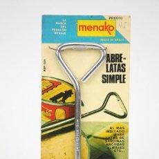 Coleccionismo: ABRELATAS SIMPLE - MENAKO - ACERO INOXIDABLE - AÑOS 60-70. Lote 133718738