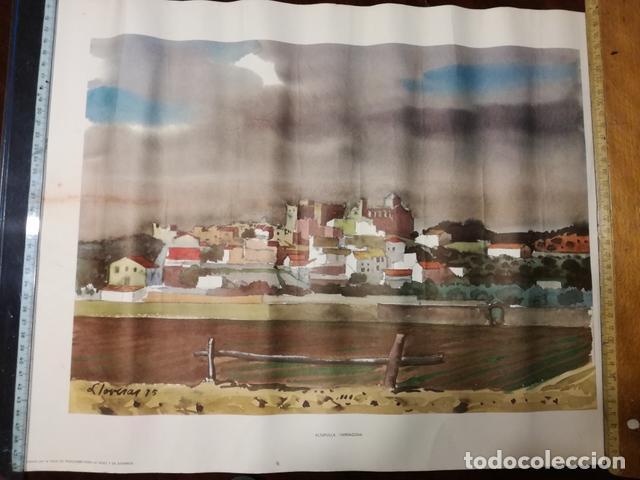 LÁMINA ANTIGUA ALTAFULLA.TARRAGONA - REPRODUCCIÓN DE LLOVERAS - 50 X 38 CM. AÑOS 70. (Coleccionismo - Laminas, Programas y Otros Documentos)