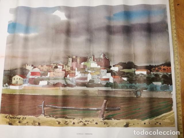 Coleccionismo: Lámina Antigua Altafulla.Tarragona - Reproducción de Lloveras - 50 x 38 cm. Años 70. - Foto 2 - 133836526