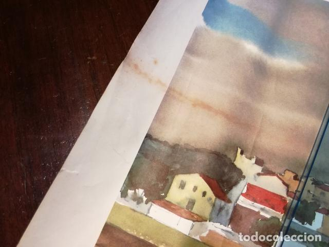 Coleccionismo: Lámina Antigua Altafulla.Tarragona - Reproducción de Lloveras - 50 x 38 cm. Años 70. - Foto 4 - 133836526