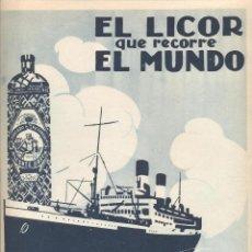 Coleccionismo: AÑO 1926 PUBLICIDAD BEBIDAS ANIS DEL MONO VICENTE BOSCH BADALONA . Lote 133883806