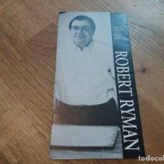Coleccionismo: PROGRAMA. FOLLETO EXPOSICIÓN. ROBERT RYMAN. CENTRO DE ARTE REINA SOFÍA. 1993.. Lote 133901126