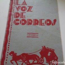 Coleccionismo: LA VOZ DE CORREOS. MADRID. SEPTIEMBRE 1931. REVISTA Nº 90. . Lote 133925066