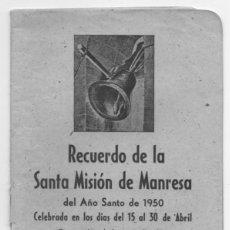 Coleccionismo: RECUERDO DE LA SANTA MISION DE MANRESA. Lote 133937254