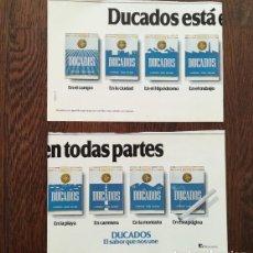 Coleccionismo: RECORTE PRENSA PUBLICIDAD DOBLE PAGINA TABACO DUCADOS ESTA EN TODAS PARTES (14X21CMS.) X2 . Lote 134019426