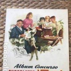 Coleccionismo: ALBUM CROMOS CONCURSO CHOCOLATES NESTLE. COMPLETO. ORIGINAL DE 1955. DISEÑADO POR RIERA ROJAS.. Lote 134109430
