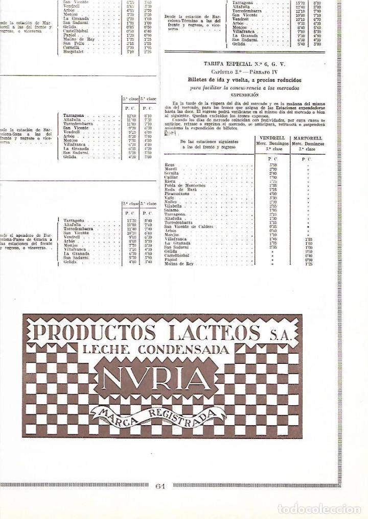 AÑO 1926 PUBLICIDAD PRODUCTOS LACTEOS LECHE CONDENSADA NURIA (Coleccionismo - Laminas, Programas y Otros Documentos)