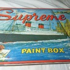 Coleccionismo: ANTIGUO ESTUCHE ACUARELAS PAINT BOX SUPREME. Lote 135040843