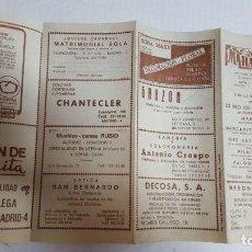 Coleccionismo: PROGRAMA TEATRO MARAVILLAS EMILIO LAGUNA. Lote 135312926