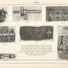Coleccionismo: LAMINA ESPASA 29583: MOTOR DIESEL. Lote 135442925