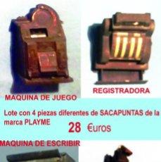 Coleccionismo: LOTE DE 9 SACAPUNTAS DIFERENTES EN MINIATURAS. MARCA PLAYME.ESPAÑA.. Lote 135573870