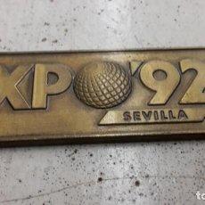 Coleccionismo: PLACA DE LLAVERO EXPO 92. Lote 135638811