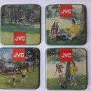 Coleccionismo: 4 ANTIGUOS POSAVASOS / PUBLICIDAD JVC/ ORIGINAL AÑOS 70-80 / PLASTIFICADOS. Lote 135716619