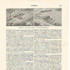 Coleccionismo: LAMINA ESPASA 30035: PLAYA DE LAS ARENAS Y PUERTO DE VALENCIA. Lote 135998408