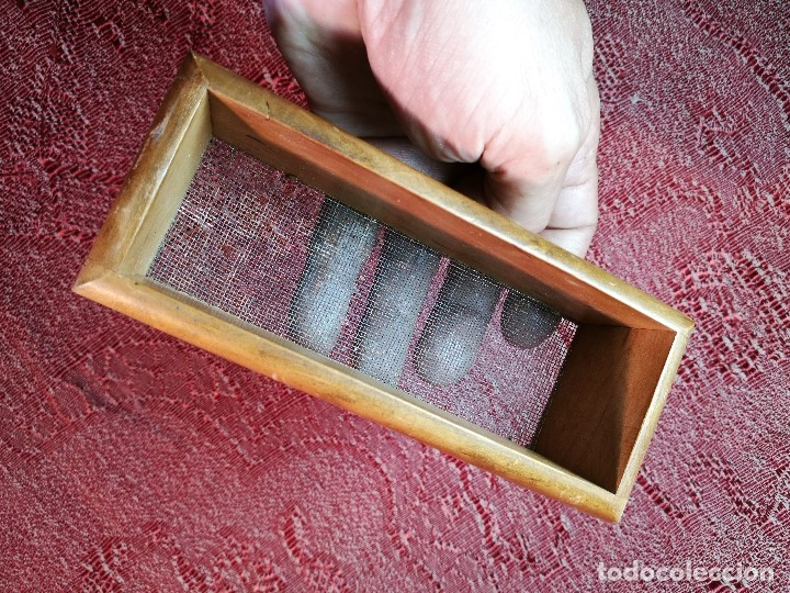 Coleccionismo: Antiguo tamiz,criba,cedazo para picadura tabaco - Foto 8 - 136356198