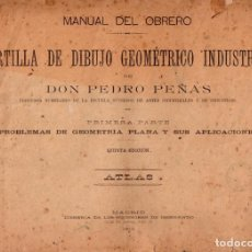 Coleccionismo: CARTILLA DE DIBUJO GEOMÉTRICO INDUSTRIAL EDITADO EL AÑO 1914 . Lote 136453814