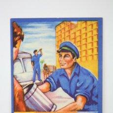 Coleccionismo: TARJETA / HOJITA DE FELICITACIÓN NAVIDEÑA - EL BASURERO, FELICES PASCUAS - AÑO 1959. Lote 136476090
