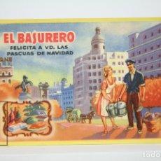 Coleccionismo: TARJETA / HOJITA DE FELICITACIÓN NAVIDEÑA - EL BASURERO, FELICES PASCUAS. Lote 136476134