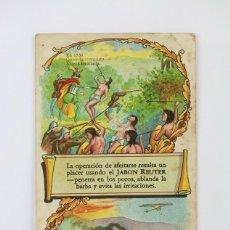 Coleccionismo: ANTIGUA TARJETA / HOJITA PUBLICITARIA - JABON REUTER - BARCLAY & CO, NEW YORK. Lote 136555134