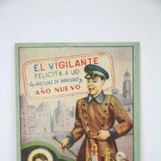 Coleccionismo: TARJETA / HOJITA DE FELICITACIÓN NAVIDEÑA - EL VIGILANTE, FELICES PASCUAS. Lote 136595552