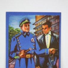 Coleccionismo: TARJETA / HOJITA DE FELICITACIÓN NAVIDEÑA - EL VIGILANTE, FELICES PASCUAS - EDI. MORAGÓN. Lote 136595642