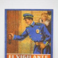 Coleccionismo: TARJETA / HOJITA DE FELICITACIÓN NAVIDEÑA - EL VIGILANTE, FELICES PASCUAS - EDI. MORAGÓN, 1958. Lote 136595685