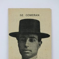 Coleccionismo: ANTIGUA TARJETA PUBLICITARIA - EL GALLO - CASA RIERA VENTA FELICITACIONES - RIERA BAJA, BARCELONA. Lote 136672126