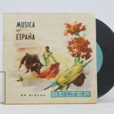Coleccionismo: ANTIGUA PROGRAMA PUBLICITARIO - MÚSICA DE ESPAÑA / EN DISCOS BELTER - TARRAGONA. Lote 136674194