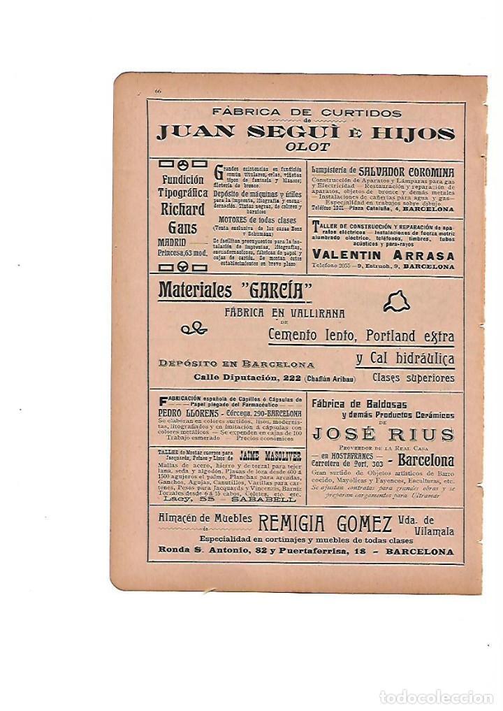 Usado, AÑO 1910 PUBLICIDAD CURTIDOS JUAN SEGUI OLOT MUEBLES REMIGIA GOME MATERIALES GARCIA VALLIRANA segunda mano