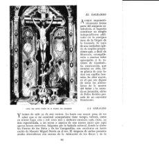 Coleccionismo: LAMINA 6343: ALTAR DEL SANTO CRISTO DE LA IGLESIA DEL SAGRARIO. Lote 96359494