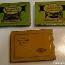 Coleccionismo: LOTE 3 LATAS DE TABACO 2 LATAS DE ABDULLA 'IMPERIAL PREFERENCE'. Y UNA DE GOLD FLAKE. Lote 137534810