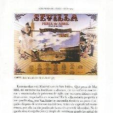 Coleccionismo: LAMINA COSSIO 50456:CARTEL FERIA DE ABRIL DE SEVILLA DE 1985. Lote 80249381