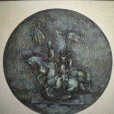 Coleccionismo: GRAN ARTICULO DE DECORACIÓN REUMAN - EL ARMA CABALLERIA AL REGIMIENTO DE CAZADORES DE ALCÁNTARA.. Lote 137664902